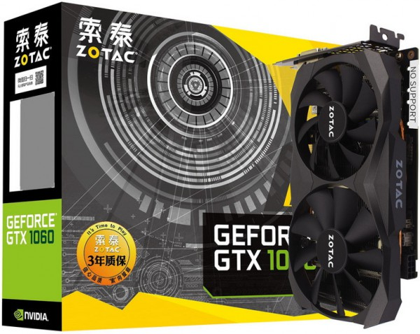 Zotac GTX GeForce 1060 6 GB G5X Destroyer