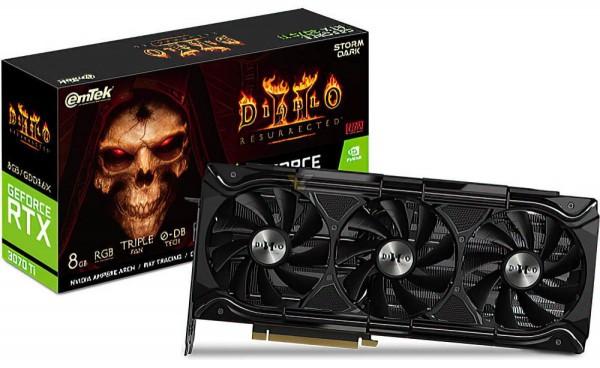 Emtek GeForce RTX 3070 Ti Storm Dark Diablo 2 Resurrected Edition