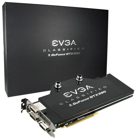 Видеокарта EVGA GeForce GTX 590 Classified Hydro Copper