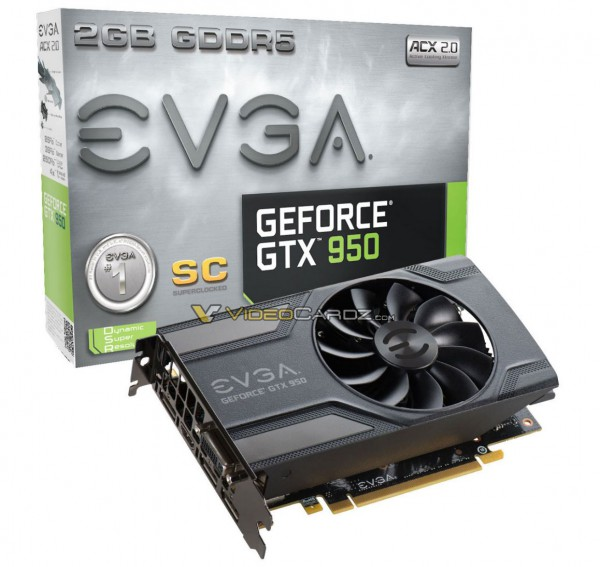 EVGA GeForce GTX 950 SuperClocked (SC) Mini (02G-P4-2951-KR)