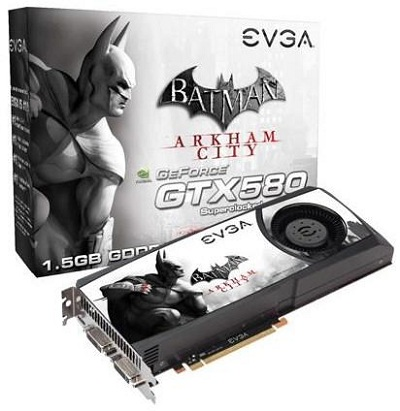 EVGA GeForce GTX 580 Superclocked Batman Arkham City Edition