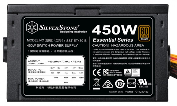 SilverStone Essential 450 Вт (SST-ET450-B)