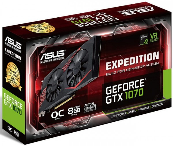 ASUS GeForce GTX 1070 Expedition