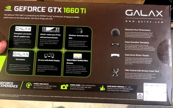 GALAX GeForce GTX 1660 Ti
