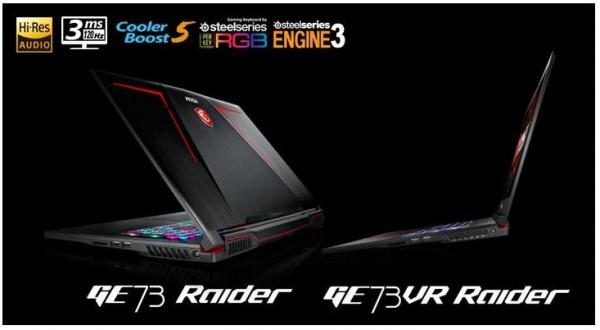MSI GE63VR73VR Raider