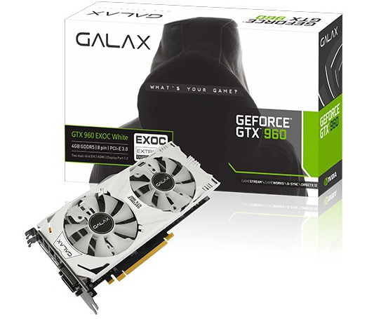 Galax GeForce GTX 960 (GF PGTX960  4GD5 EXOC WHITE)