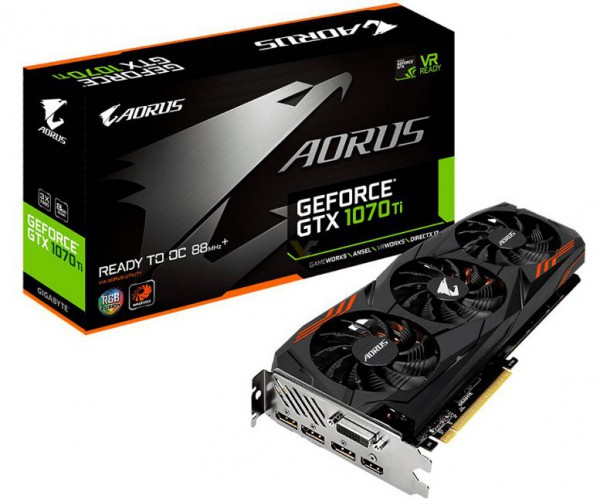 Gigabyte GeForce GTX 1070 Ti AORUS (GV-N107TAORUS-8GD)