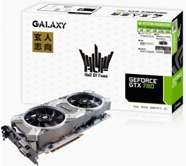 Galaxy GeForce GTX 780 HOF, GF-GTX780-E6GHDSOC