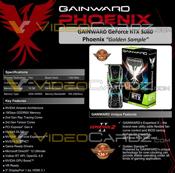 Gainward GeForce RTX 3080 Phoenix, Gainward GeForce RTX 3090 Phoenix
