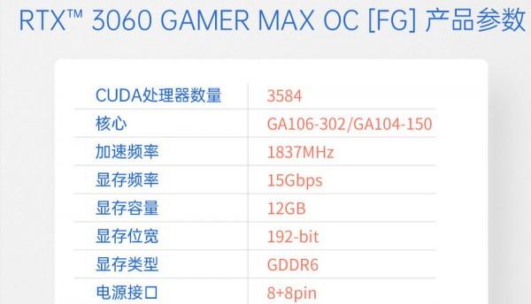 Galax GeForce RTX 3060, GA104