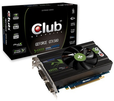 3D Club GTX 560 Green Edition (CGNX-X56024G)