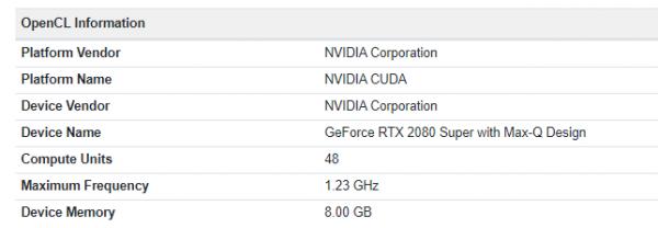 GeForce RTX 2080 SUPER Max-Q