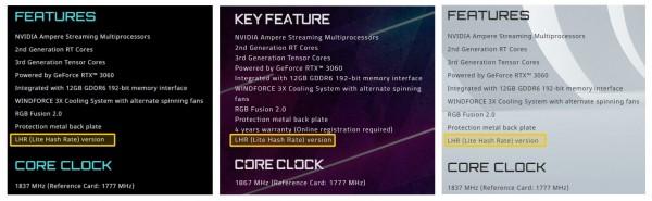 Gigabyte GeForce RTX 3060 LHR