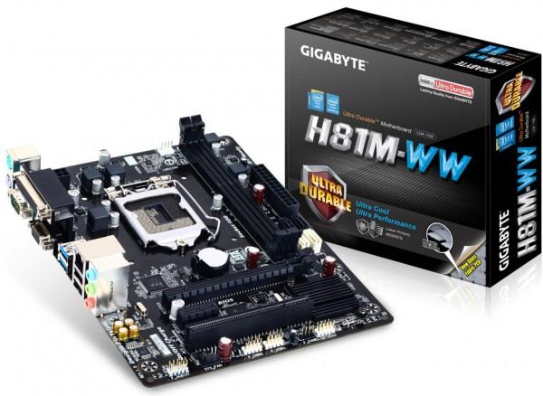 Gigabyte H81M-WW