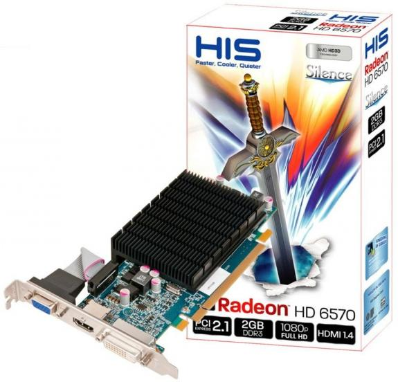 HIS Radeon HD 6570 Silence 2 ГБ