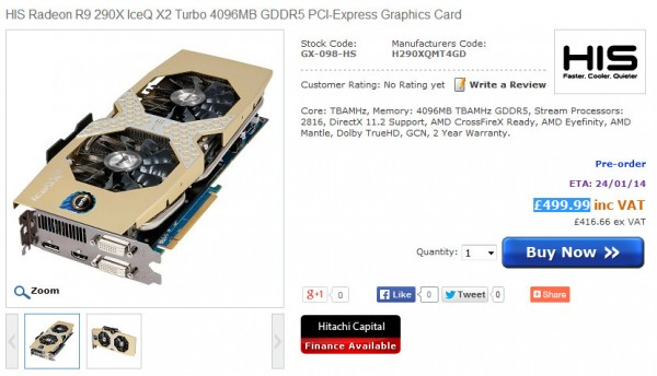 HIS Radeon R9 290X IceQ X2 Turbo