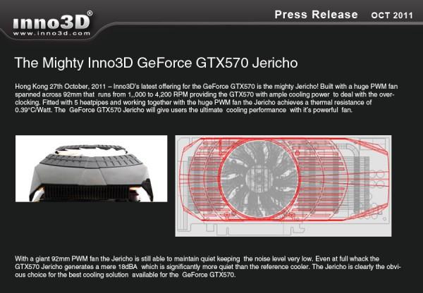 Inno3D GeForce GTX 570 TiGTX 560 Ti Jericho