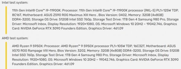 Rocket Lake-S, Intel Core i9-11900K, PC Mark 11 Quick System Drive Benchmark