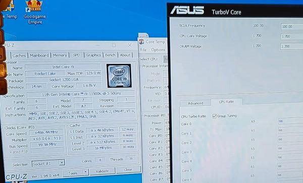 Процессор Core i9-11900K (Rocket Lake-S) форсирован до 7047,88 МГц при напряжении 1,873 В