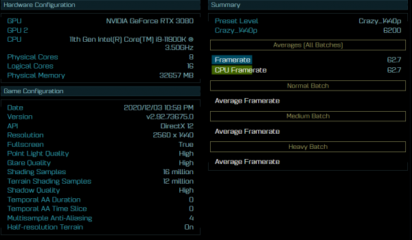 Core i9-11900K «Intel Rocket Lake-S» в Ashes of the Singularity