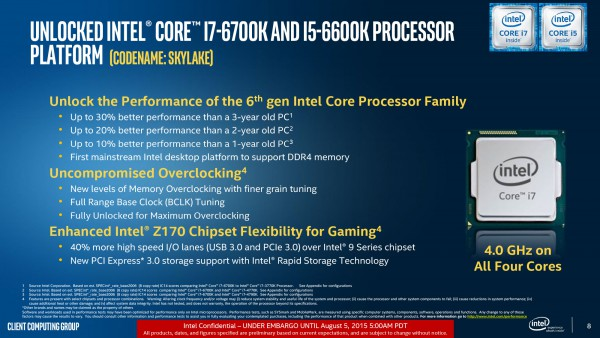 Core i7-6700K, Core i5-6600K, Intel Skylake