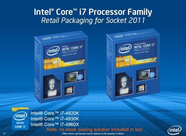 Core i7-4960X Extreme Edition, Core i7-4930K, Core i7-4820K