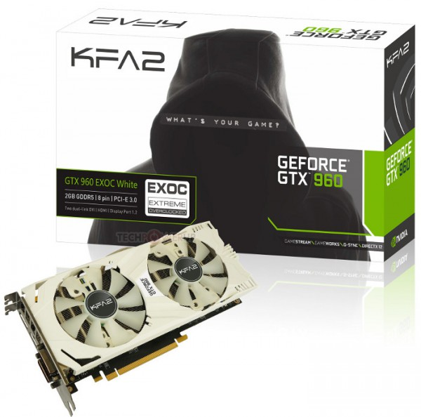 KFA2 GeForce GTX 960 EXOC White Edition