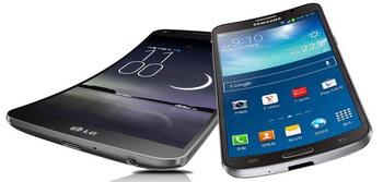 LG G Flex, Samsung Galaxy Round