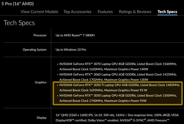 NVIDIA GeForce RTX 3050 Ti Laptop и RTX 3050 Laptop