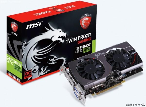 MSI GeForce GTX 650 Ti Boost OC Edition