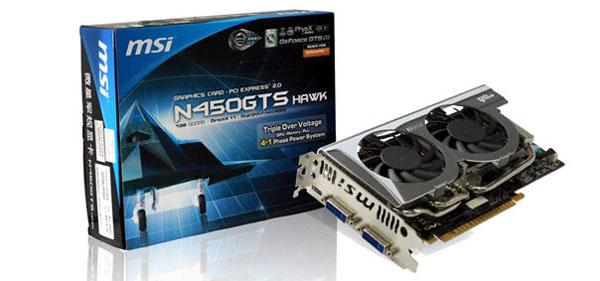 Видеокарта MSI N450GTS Hawk