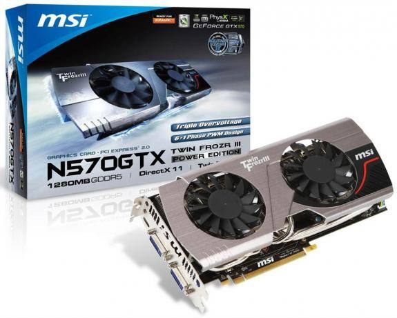 Видеокарта MSI N570GTX Twin Frozr III Power Edition