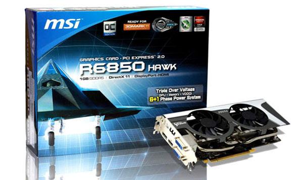 Видеокарта MSI R6850 Hawk