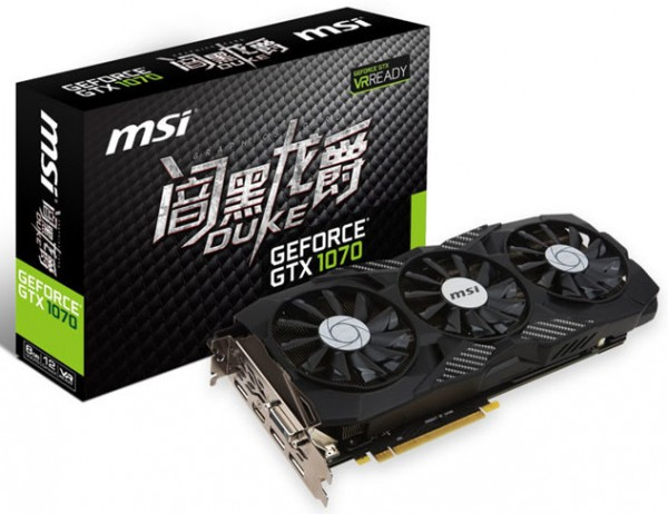 MSI GeForce GTX 1070 DUKE Edition