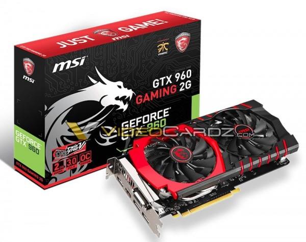 MSI GeForce GTX 960 Gaming OC, GeForce GTX 960 100ME