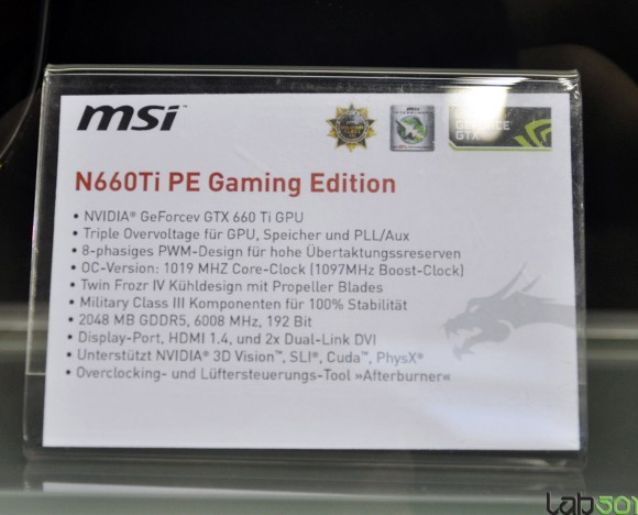 MSI N660Ti PE Gaming Edition