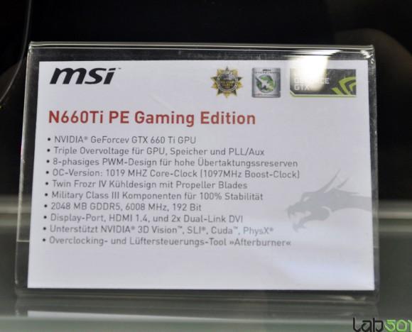 MSI N660Ti PE Gaming Edition