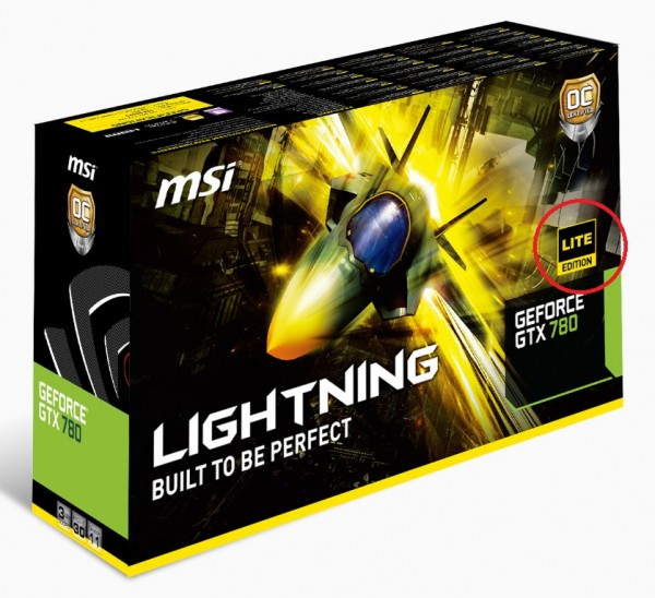 MSI GeForce GTX 780 Lightning Lite Edition