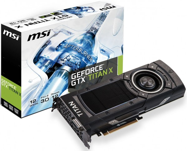 MSI GeForce GTX TITAN-X (NTITAN X 12GD5)