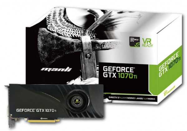 Manli GeForce GTX 1070 Ti with Blower Fan