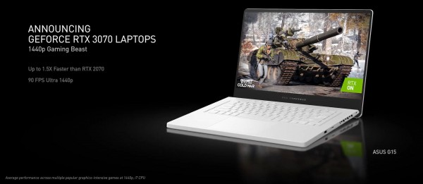 NVIDIA GeForce RTX 3060 Mobile, RTX 3070 Mobile, RTX 3080