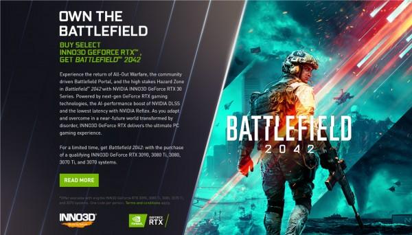 Inno3D, Battlefield 2042, NVIDIA GeForce RTX 30