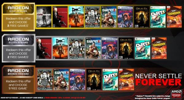 AMD Never Settle Forever