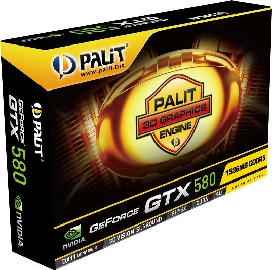 GeForce GTX 580 PAlit