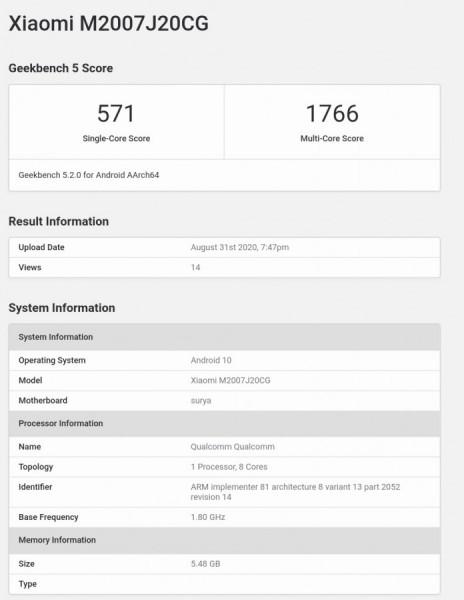 Poco X3, Snapdragon 732G