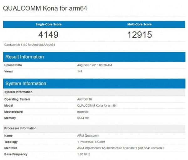 Qualcomm Kona, Snapdragon 865