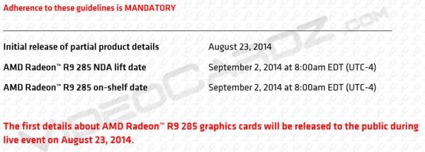 Radeon R9 285X, Radeon R9 285