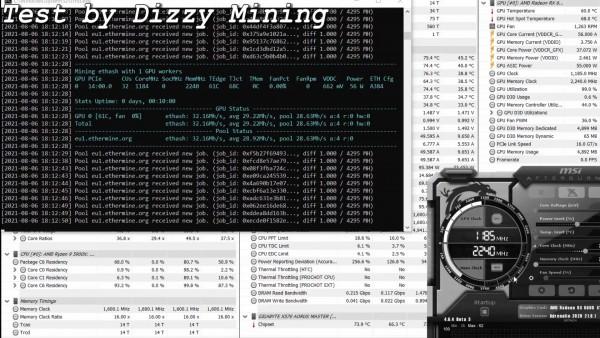 Майнинг Radeon RX 6600 XT