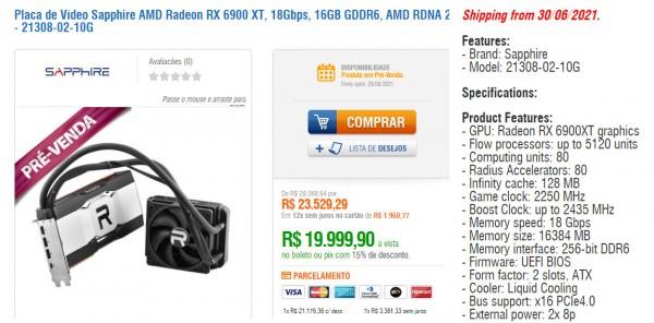 Sapphire Radeon RX 6900 XT