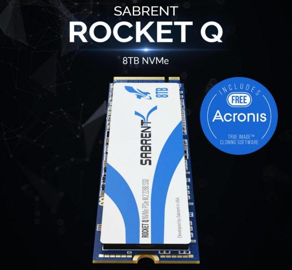 Sabrent Rocket Q 8TB NVMe PCIe M.2 2280 Internal SSD Solid State Drive (SB-RKTQ-8TB)
